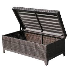 Benches With Cushions - wicker storagench for patio brownnchwickernchesdroomwicker with