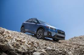 blue subaru crosstrek first drive 2018 subaru crosstrek