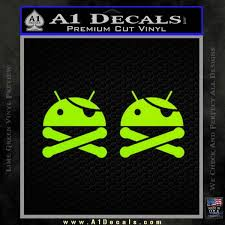 android superuser android root user decal sticker 2 pack a1 decals