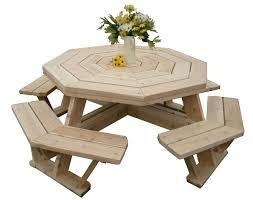 amazon com white cedar octagon walk in picnic table patio