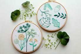 spring wild flower embroidery stitch sampler beginner embroidery