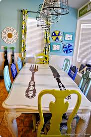 DIY Dining Table And Chairs Makeovers Diy Dining Table Chair - Funky kitchen tables and chairs