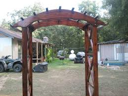 wedding arch plans free rustic x wedding arch do it yourself home projects from