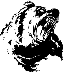 black rageful grizzly bear tattoo design tattooimages biz