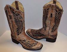 womens square toe boots size 11 corral sequin boots ebay