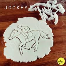 jockey cookie cutter biscuit cutters one of a kind ooak