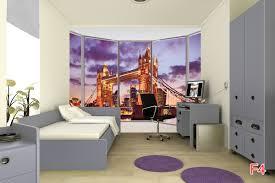 London Wall Murals Mural Window View Tower Bridge In London In Purple
