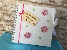 photo album guest book beautiful white personalised photo album guest book for girl