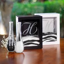 Sand For Wedding Unity Vase Unity Sand Ceremony Shadow Box Set Black Or White Wedding
