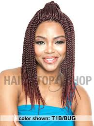 medium box braids with human hair mane concept afri naptural box braid medium crochet braid 14 inches