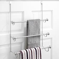 amazon com interdesign york over the shower door 3 bar towel