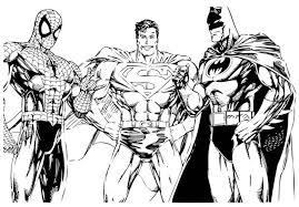 marvel superhero colouring sheets