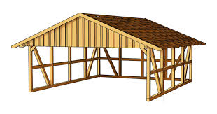 gamble roof double carport gable roof rear wall sams garden shed store