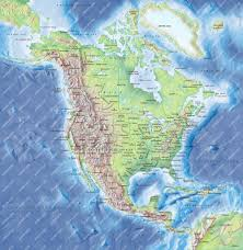 Physical Map Of North America Mountain Ranges In America Map America Map North America Physical
