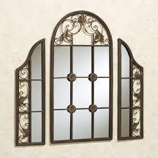hera windowpane style wall mirror set mirror set walls and
