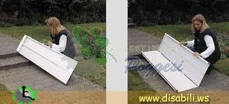 pedane per disabili re portatili per disabili in alluminio ripiegabili a valigetta