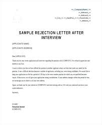 Rejection Letter To Candidate rejection letter sle candidate rejection letter best