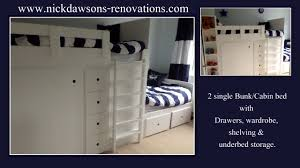 cabin bed with wardrobe and drawers chest of drawers