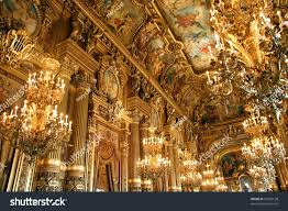 paris opera house chandelier golden interior opera garnier paris france stock photo 50596138