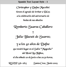 Wedding Invitations Sayings Spanish Wedding Invitations Wording U2013 Party Invitation Ideas