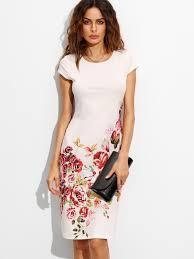cap sleeve dresses print cap sleeve dress shein sheinside