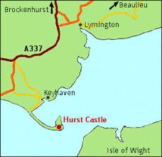 hurst map hurst castle and spit