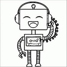 funny robot coloring pages coloringstar printable print free