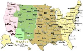 map of time zones usa and mexico time zone map of us time zone map us and mexico tzmap namerica
