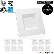 square recessed lighting fixtures inch led square downlight led trim 15w square recessed light