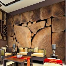tree cross section table custom wall murals woods grain growth rings european retro painting