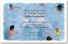 pool party invitations www announcingit children and kids birthday in