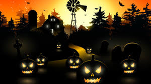 halloween background 1280x720 wallpaper scary town pumpkins 4k celebrations halloween 5414
