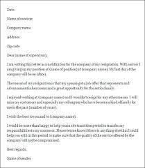 temporary resignation letter resignation letter immediate