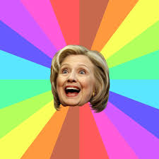 Rainbow Meme - hillary rainbow meme blank template imgflip