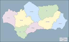 Andalucia Spain Map by Andalusia Free Map Free Blank Map Free Outline Map Free Base