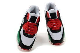 nike sko billige mænds nike air max 90 sko white black red green