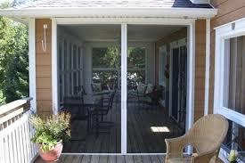 Mirage Retractable Screen Double Door Traditional Porch