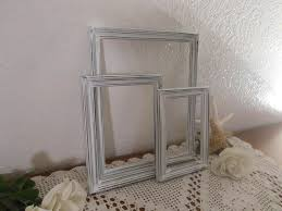 white frame set rustic shabby chic distressed picture photo beach