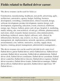 Driver Resume Samples by Top 8 Flatbed Driver Resume Samples