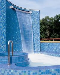 Waterfall Glass Tile Water Features Gallery Water Structures