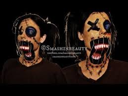 creepy scary voodoo doll makeup makeup tutorial 2016 american