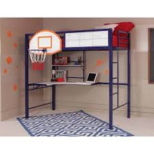 Desk With Bed Amazon Com Awesome Modern Kids Boys Twin Loft Bunk Bed With Full