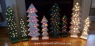 wood christmas tree with lights christmas decorations