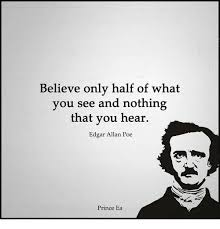 Allan Meme - believe only half of what you see and nothing that you hear edgar