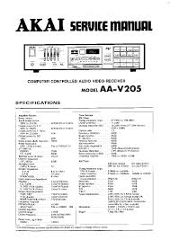 akai aa v205 service manual