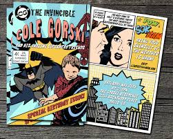 comic book invitation by theblueeggevents on etsy 22 00 party