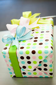 pretty wrapping paper gift boxes wrapped in colorful polka dot wrapping paper and