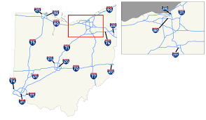 Show Me A Map Of Ohio by List Of Interstate Highways In Ohio Wikipedia