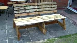 bench made out of pallets making a garden bench from pallets stgrupp com