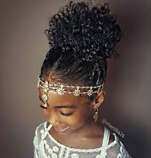 high puff natural hairstyles for kids buns and updo u0027s